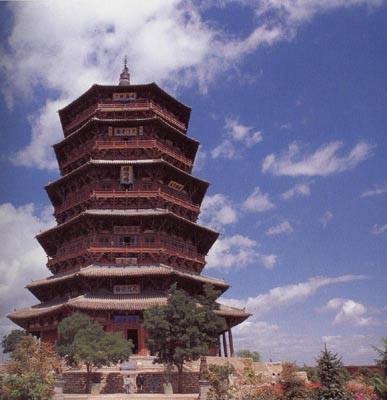纯木结构的应县木塔